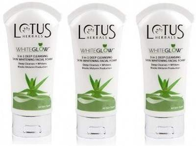 Buy Lotus Herbals 3 In 1 Deep Cleansing Skin Whitening Facial Foam - Whiteglow  Face Wash online United States of America [ USA ]