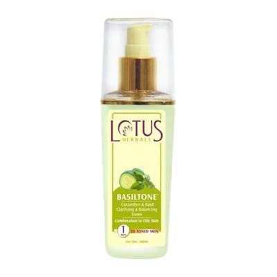 Buy Lotus Herbals Basiltone Cucumber Basil Clarifying And Balancing Toner online United States of America [ USA ]