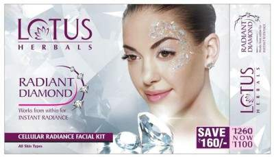 Buy Lotus Herbals Radiant Diamond Cellular Radiance Facial Kit online United States of America [ USA ]