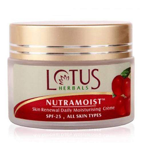 Buy Lotus Herbals NUTRAMOIST Skin Renewal Daily Moisturising Cream SPF-25 online United States of America [ USA ]