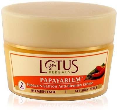 Buy Lotus Herbals Papayablem Papaya-N-Saffron Anti-Blemish Creme online United States of America [ USA ]
