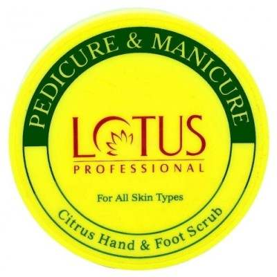 Buy Lotus Herbals Pedicure and Manicure Citrus Hand and Foot Scrub online United States of America [ USA ]
