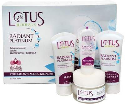 Buy Lotus Herbals Radiant Platinum Cellular Anti-Ageing Facial Kit online United States of America [ USA ]