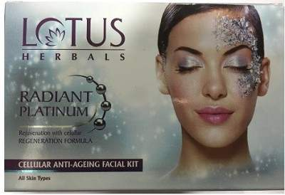Buy Lotus Herbals Radiant Platinum Cellular Anti-Ageing 1 Facial Kit online United States of America [ USA ]