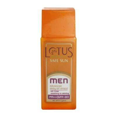 Buy Lotus Herbals Safe Sun Men Advanced Daily UV Shield SPF-30 PA+++ online United States of America [ USA ]