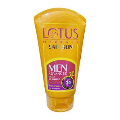 Buy Lotus Herbals Safe Sun Men Advanced UV Shield - SPF 30 PA+ online United States of America [ USA ]