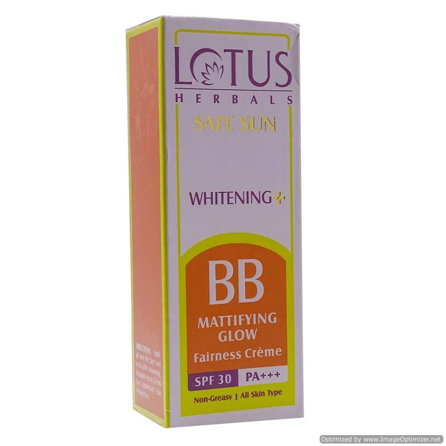 Buy Lotus Herbals Safe Sun Whitening and BB Metrifying Glow Fairness Crme online United States of America [ USA ]