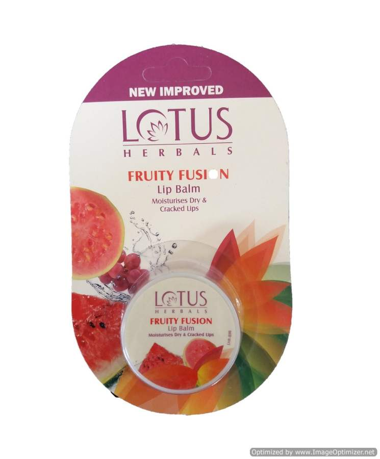Buy Lotus Lip Balm Rehydrates Dry and Cracked Lips Fruity Fusion online United States of America [ USA ]