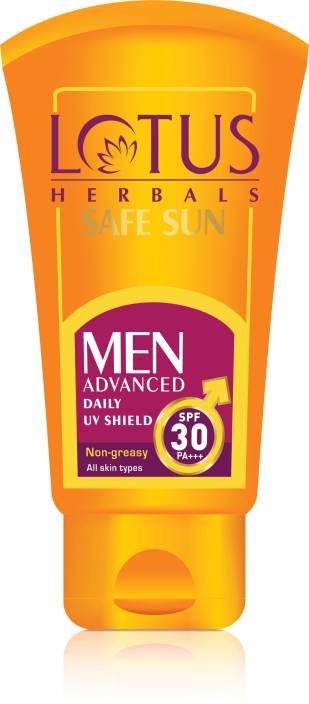 Buy Lotus Safe Sun Men Advanced Daily UV Shield PA plus SPF 30 online United States of America [ USA ]