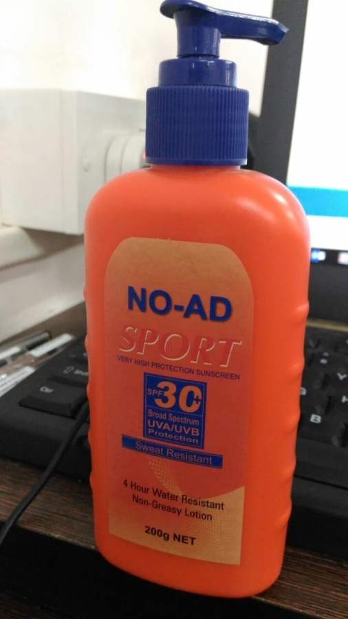 Buy NO AD Sport Very High Protection Sunscreen SPF30 UVA/UVB Protection Online MY
