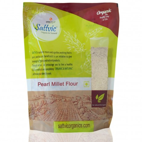 Buy Sattvic Organic & Natural Pearl Millet Flour (Bajra Atta) Online MY