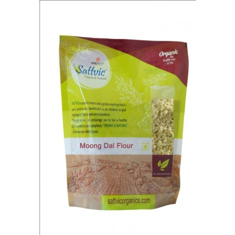 Buy Sattvic Organic & Natural Split Green Gram (Moong Split Dal) Online MY