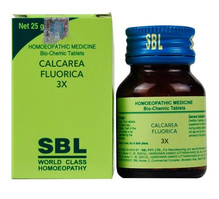 Buy SBL Bio Chemics Salts Calcarea Fluorica online United States of America [ USA ]