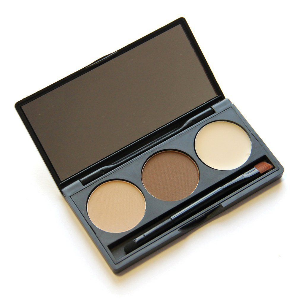 Buy Pure Vie® Professional 3 Colors Eyebrow Powder Palette Makeup Contouring Kit for Salon and Daily Use Online FR