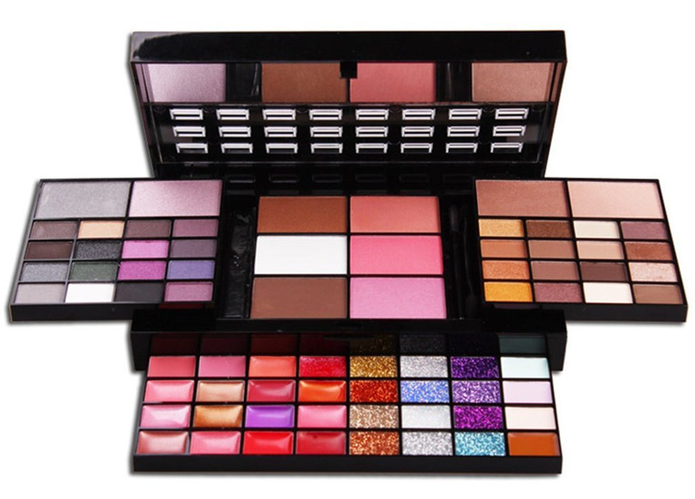 Buy Pure Vie Professional 74 Colors Eyeshadow Concealer Blush Lip Gloss Palette Makeup Contouring Kit Online MY