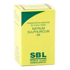 Buy SBL Homeopathy Bio Chemic Tablets Natrum Sulphuricum 6x online United States of America [ USA ]