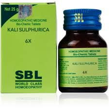 Buy SBL Homeopathy Bio Chemics Kali Sulphuricum 6x online United States of America [ USA ]