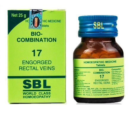 Buy SBL Homeopathy Bio Combination Engorged Rectal Veins 17 online United States of America [ USA ]