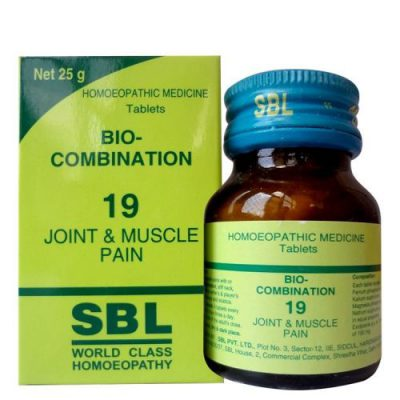 Buy SBL Homeopathy Bio Combination Joint & Muscle Pain 19 online United States of America [ USA ]