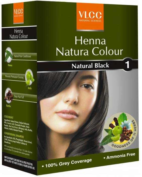 Buy Vlcc Henna Natura Colour Natural Black Online MY