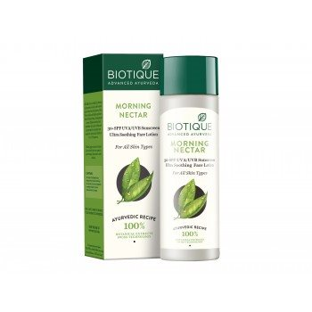 Buy Biotique Bio Morning Nectar Ultra Soothing Face Lotion 30+ SPF online United States of America [ USA ]