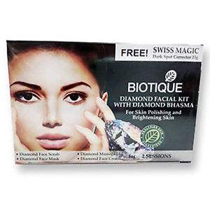 Buy Biotique Diamond Facial kit with Diamond Bhasma online Singapore [ SG ]