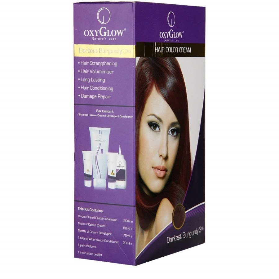Buy Oxyglow Hair Colour Cream Burgundy online United States of America [ USA ]