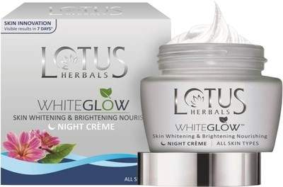 Buy Lotus Herbals WHITEGLOW Skin Whitening & Brightening Nourishing Night Cream online New Zealand [ NZ ]