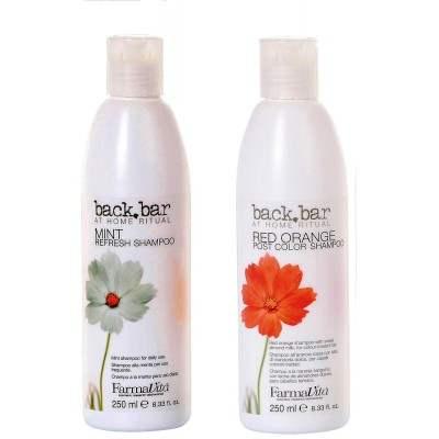 Buy FarmaVita Back Bar Mint + Red Orange Shampoo Combo Pack online New Zealand [ NZ ]