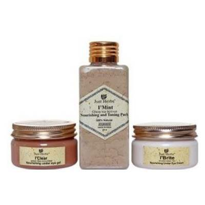 Buy Just Herbs Ayurvedic Under Eye Dark Circle Treatment Kit online Nederland [ NL ]