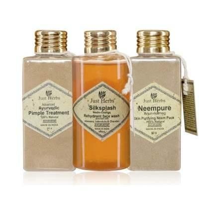 Buy Just Herbs Ayurvedic Pimple Treatment Kit online Switzerland [ CH ]