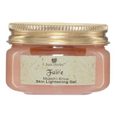 Buy Just Herbs Fair'e Mulethi Khus Skin Lightening Gel online Switzerland [ USA ]