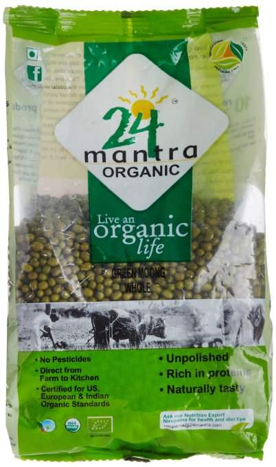 Buy 24 Mantra Organic Green Moong Dal Whole online New Zealand [ NZ ]