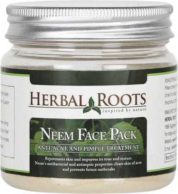 Buy Herbal Roots Neem Face Pack - Anti Acne Pimple Care and Pimple Remover online United States of America [ USA ]