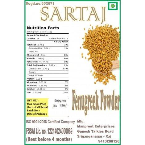 Buy Sartaj Fenugreek Seeds Powder online Singapore [ SG ]