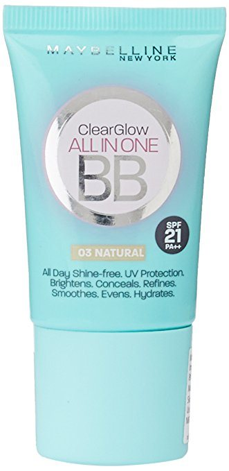 Buy Maybelline New York Clear Glow BB Cream SPF 21 PA++ - Natural online United States of America [ USA ]