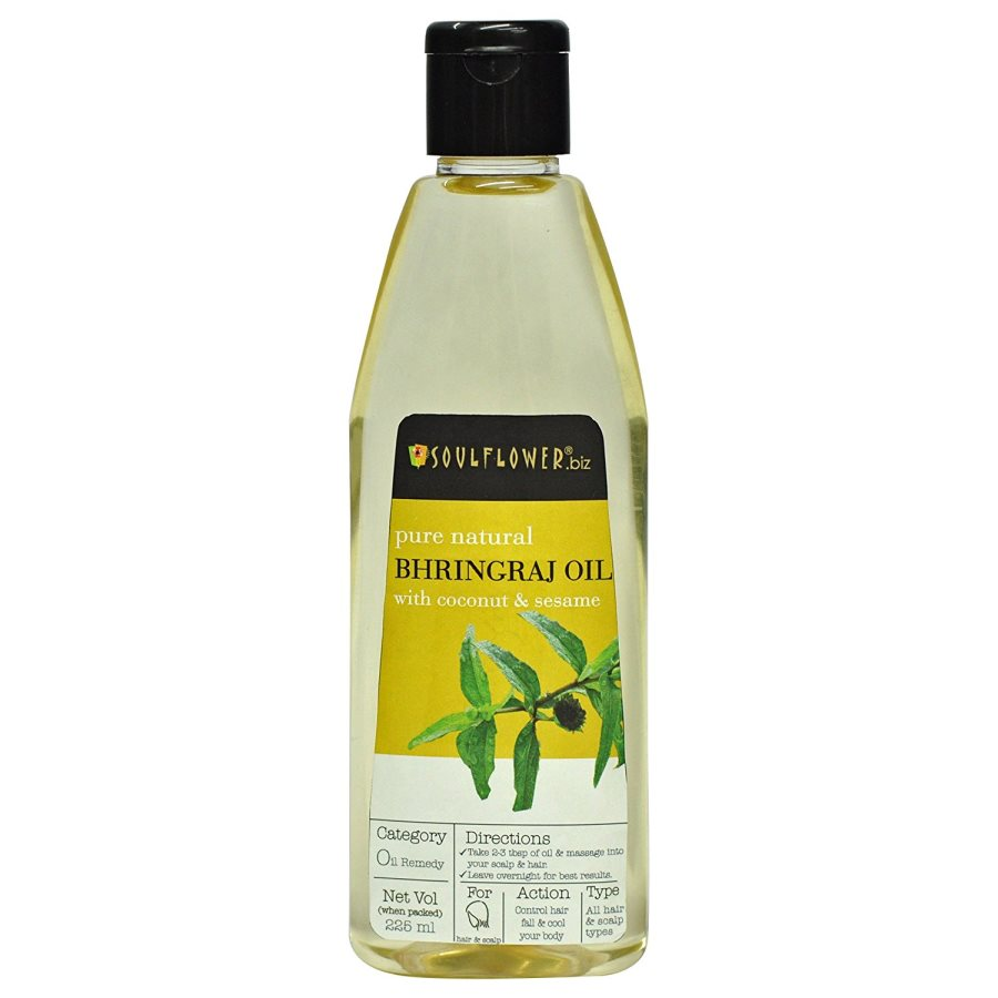 Buy Soulflower Pure Natural Bhringraj with Coconut & Sesame Oil online United States of America [ USA ]