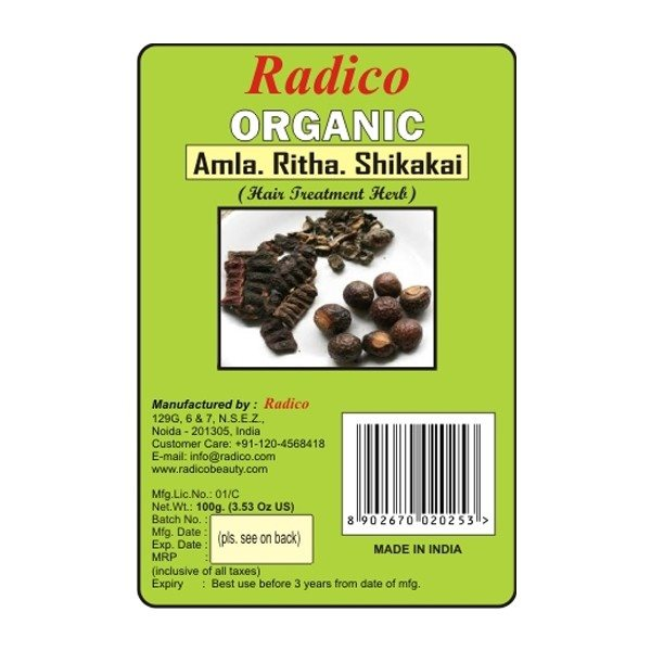 Buy Radico Organic Amla+Ritha+Shikakai Mix Powder - 100 gm online Switzerland [ CH ]