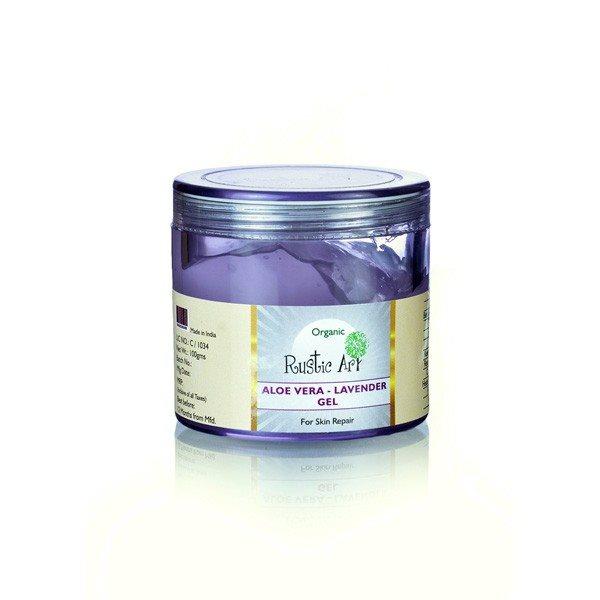 Buy Rustic Art Organic Aloe Vera - Lavender Gel - 100 gm online Malasiya [ MY ]