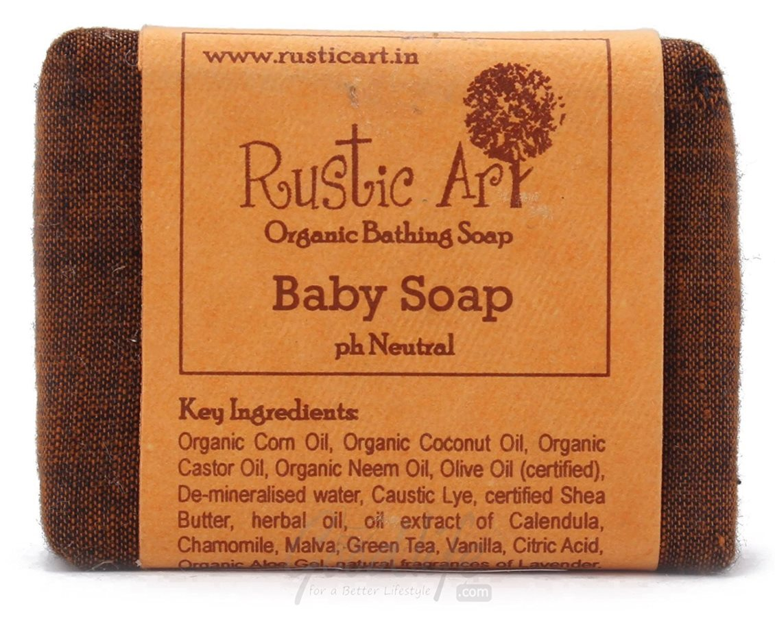 Buy Rustic Art Organic Baby Soap - 100 gm Online MY