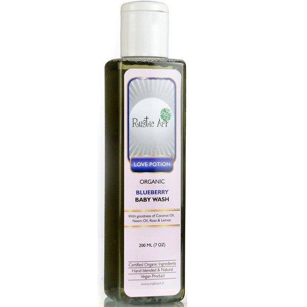 Buy Rustic Art Organic Blueberry Baby Wash - 200 ml online Switzerland [ CH ]