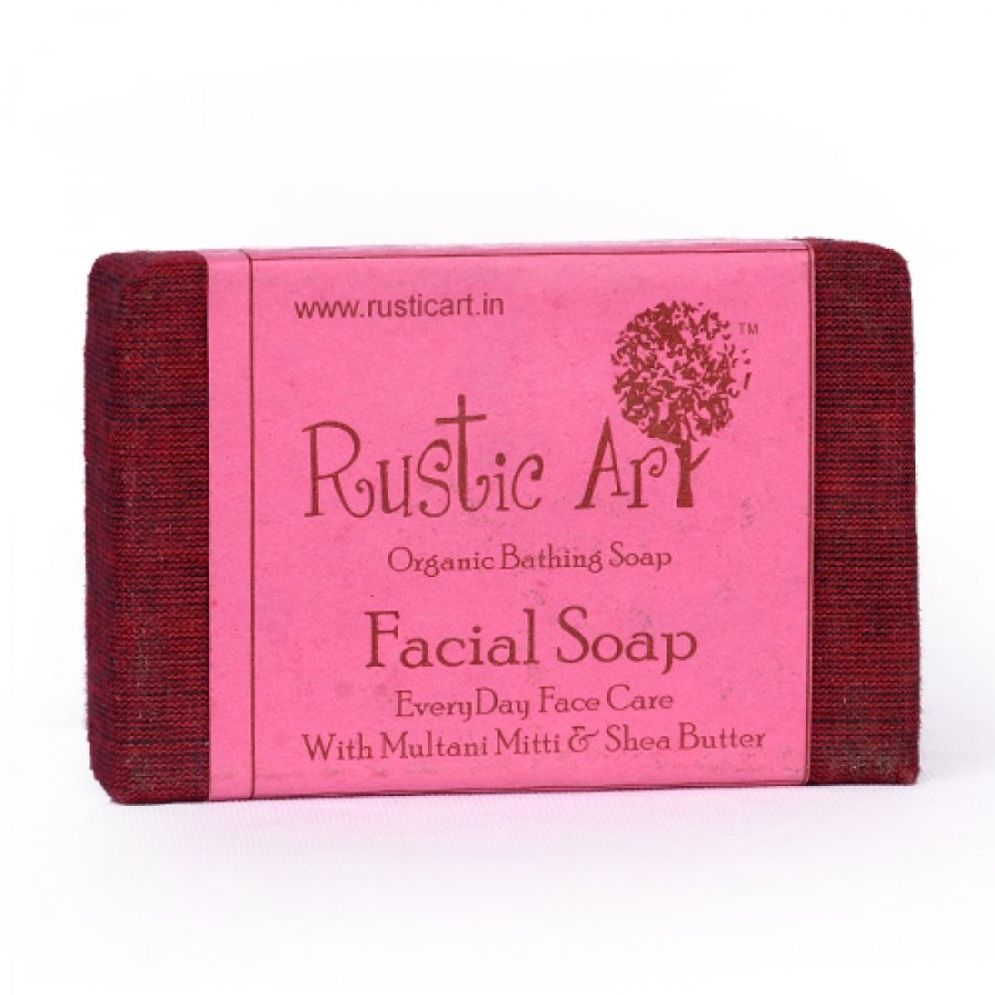 Buy Rustic Art Organic Facial Soap - 100 gm online Malasiya [ MY ]