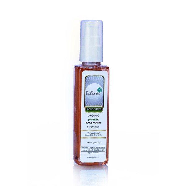 Buy Rustic Art Organic Juniper Face Wash - 100 ml online Malasiya [ MY ]