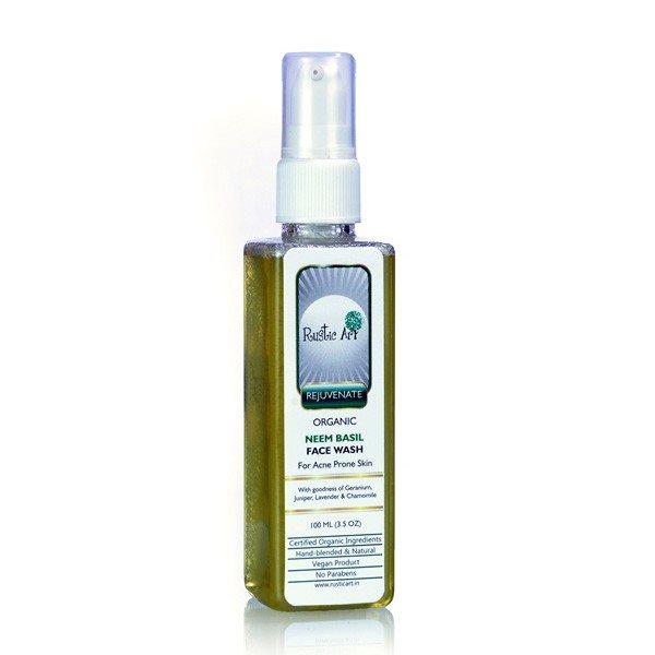 Buy Rustic Art Organic Neem Basil Face Wash - 100 ml online Malasiya [ MY ]