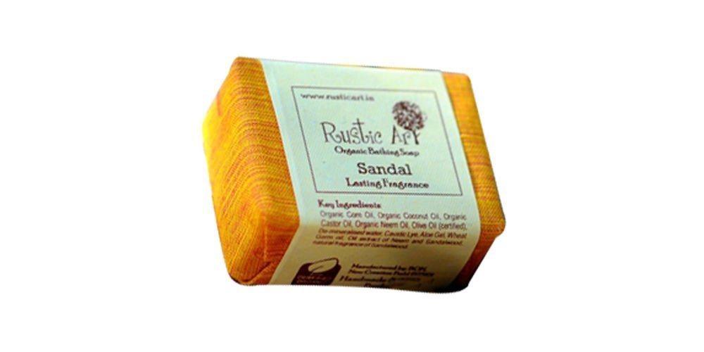Buy Rustic Art Organic Sandal Soap - 100 gm online Malasiya [ MY ]
