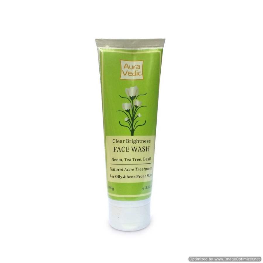 Buy Auravedic Clear brightness pulpy face wash with neem tea tree online Australia [ AU ]