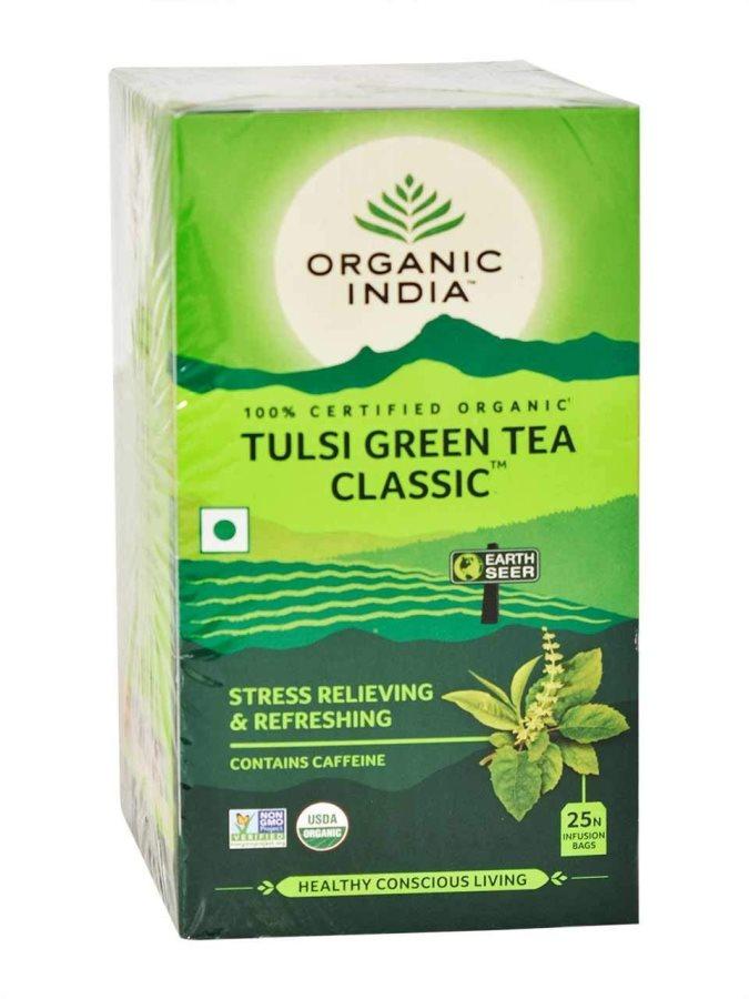Buy Organic India Tulsi Green Tea Classic 25 Tea Bags online United States of America [ USA ]
