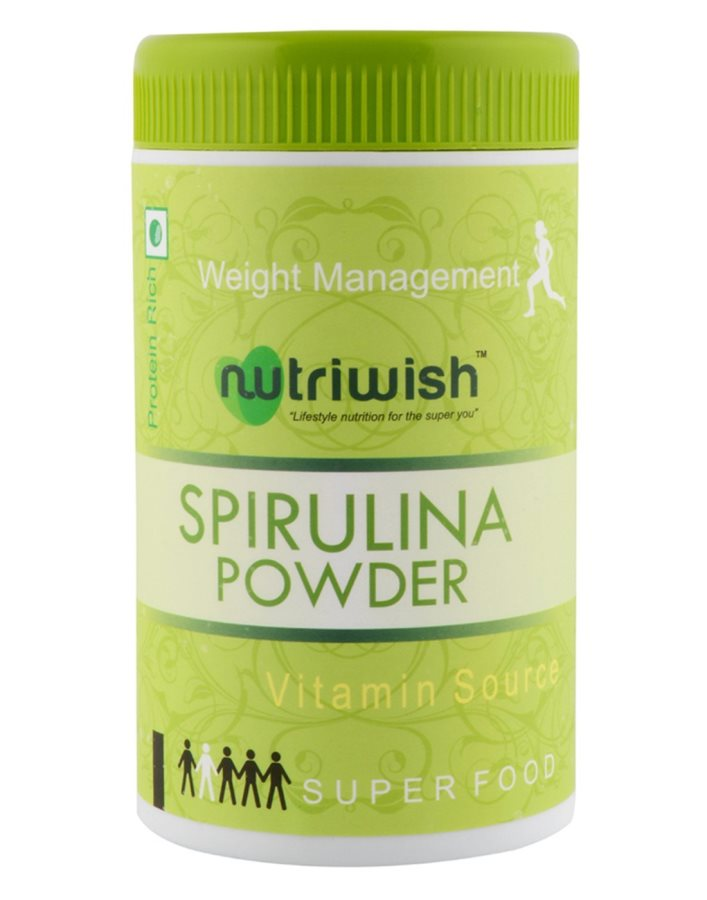 Buy Nutriwish Spirulina Powder (Reusable Packaging With Scoop) , Powerful Organic Superfood online United States of America [ USA ]
