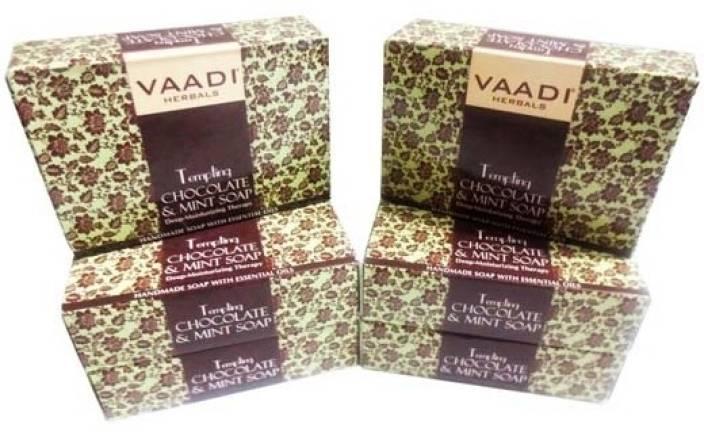 Buy Vaadi Herbals Templing Chocolate and Mint Soap online New Zealand [ NZ ]