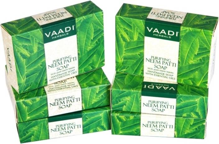Buy Vaadi Herbals Value Pack Of 3 Purifying Neem - Patti Soaps With Pure Neem Leaves online United States of America [ USA ]